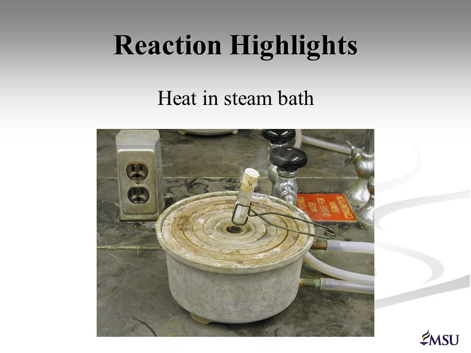 Reaction Highlights Isolate by extraction