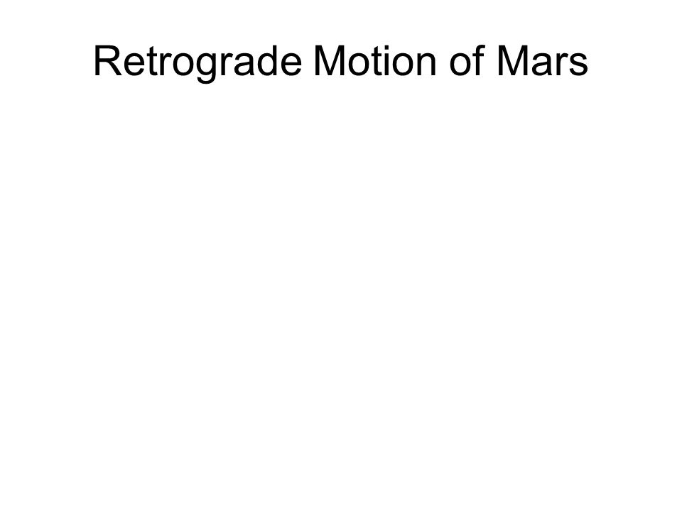 Retrograde = opposite direction Always occurs when planet is high at midnight (i.e. opposite sun)