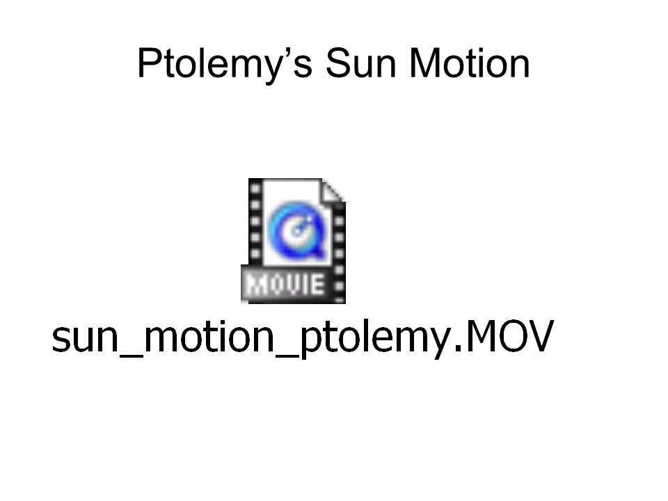 Venus and Mercury: Ptolemy