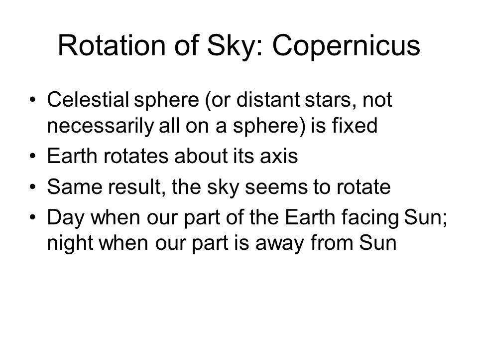 Copernicus: Earth rotates