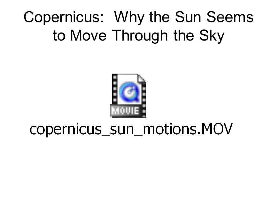 Exercises: The Earth in Orbit Around the Sun Why the Sun appears in different constellations throughout the year