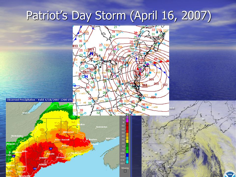 Patriot's Day Storm (Infrared Satellite Images)