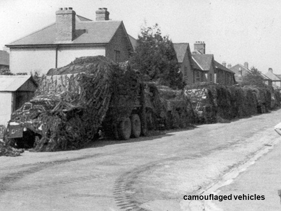 camouflaged vehicles