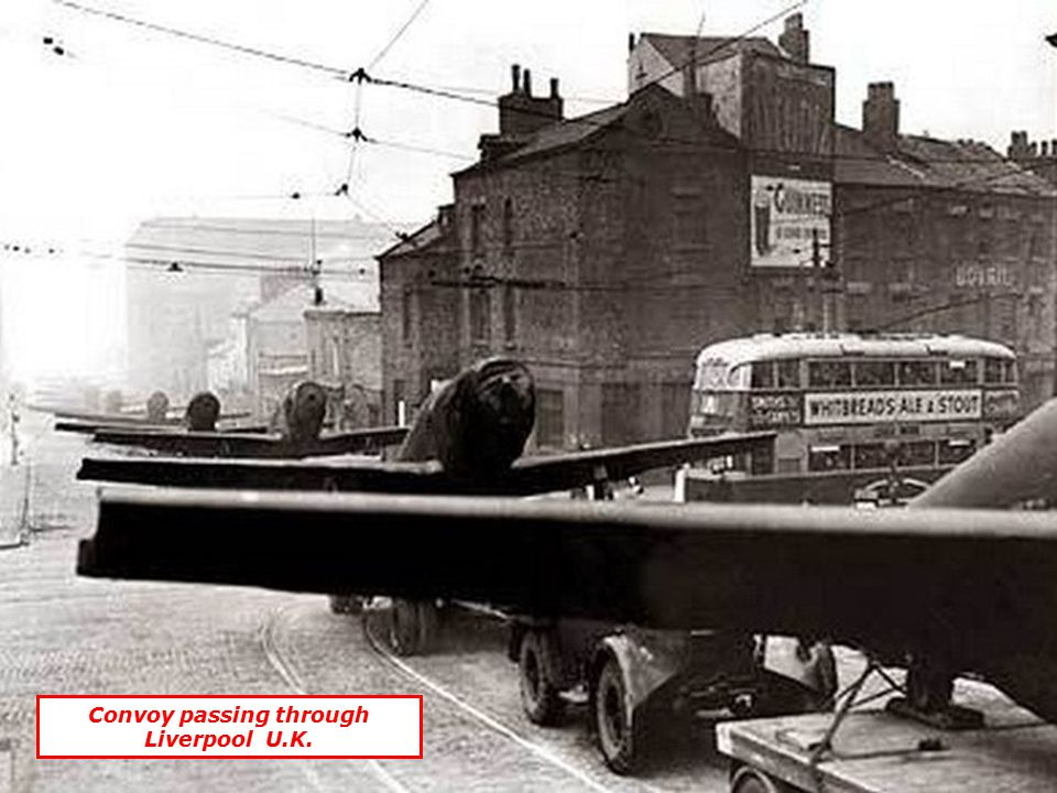 Convoy passing through Liverpool U.K.