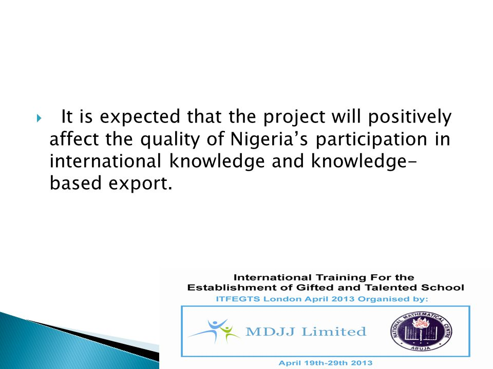  Ultimately, the project will rejuvenate the academia with internationally reputable scholars.