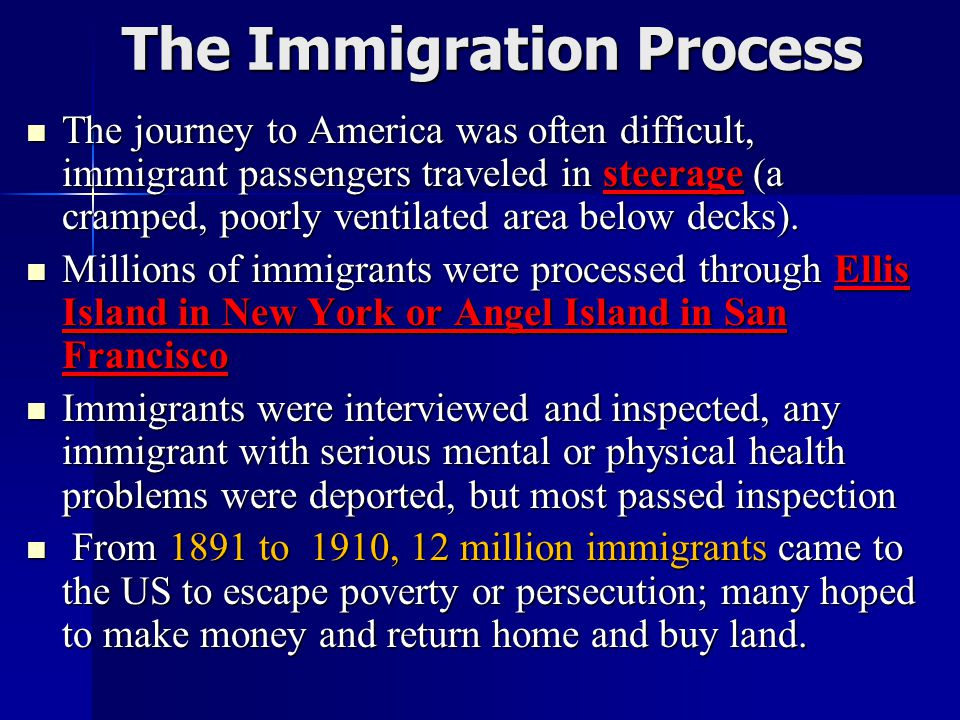Why Europeans Immigrated to the US