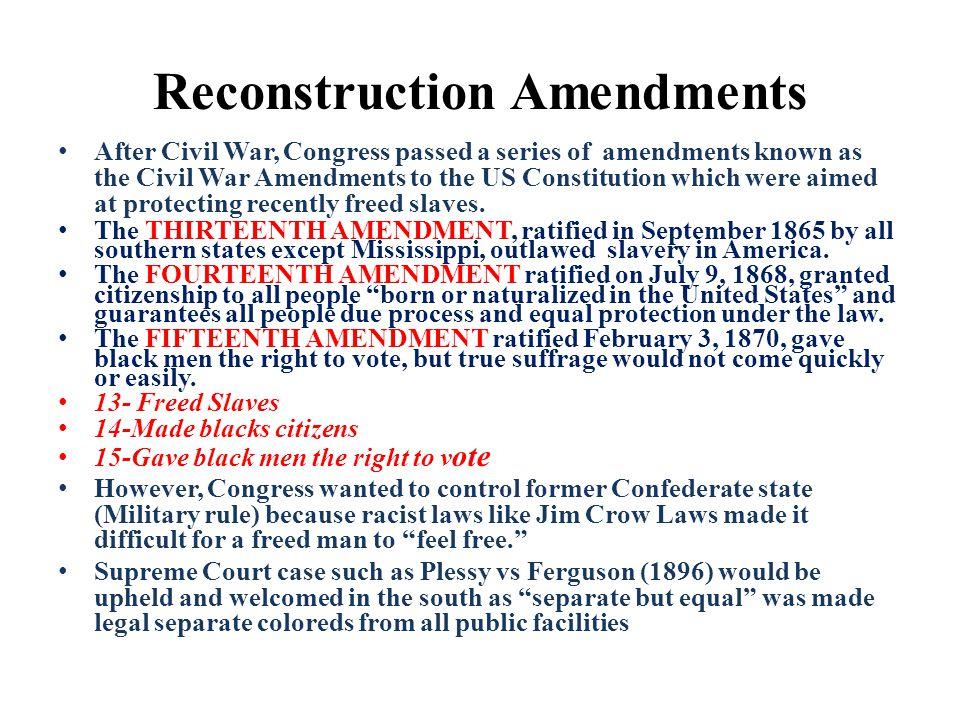 Affects of Jim Crow & Plessy vs Ferguson http://www.youtube.com/watch?v=s54MsnV2Dp0&list= PLD754C18D1C67A5BF&index=4&feature=plpp_video http://www.youtube.com/watch?v=s54MsnV2Dp0&list= PLD754C18D1C67A5BF&index=4&feature=plpp_video