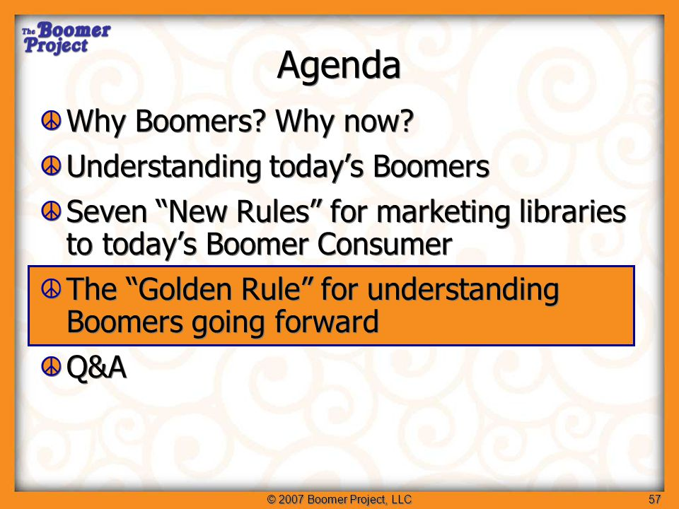 © 2007 Boomer Project, LLC58 Viva the Vital