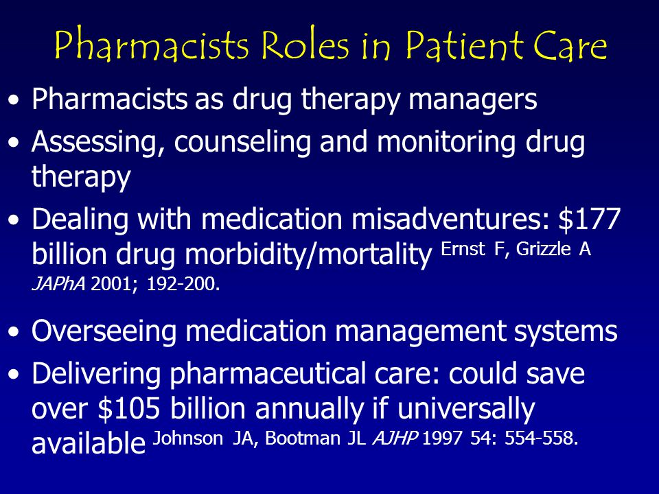 © 2003 Pharmacy Manpower Project, Inc These new roles are not just assuring safe and accurate medication distribution….what about tomorrow?