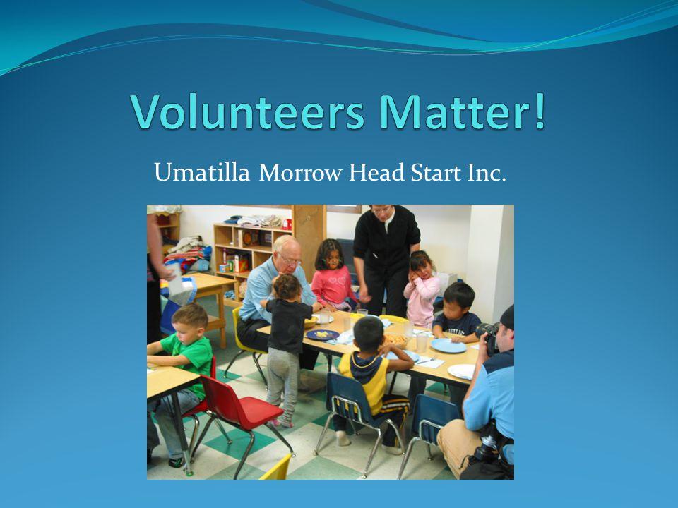 UMCHS Volunteers Total number of volunteers Sept.to Dec.