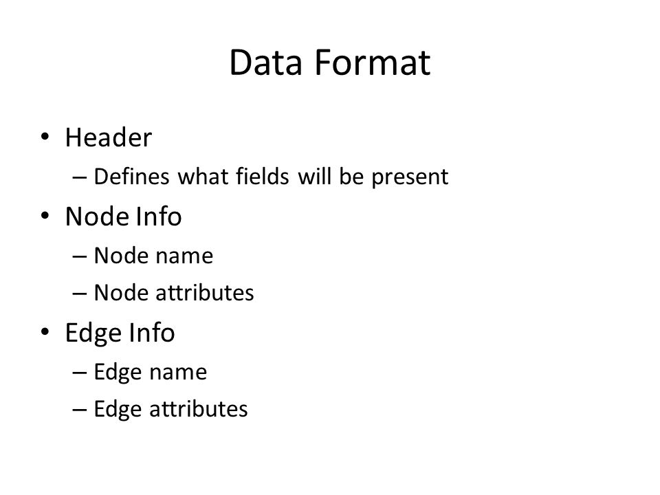 Data Structures Nodes are connected to each other through an edge node.
