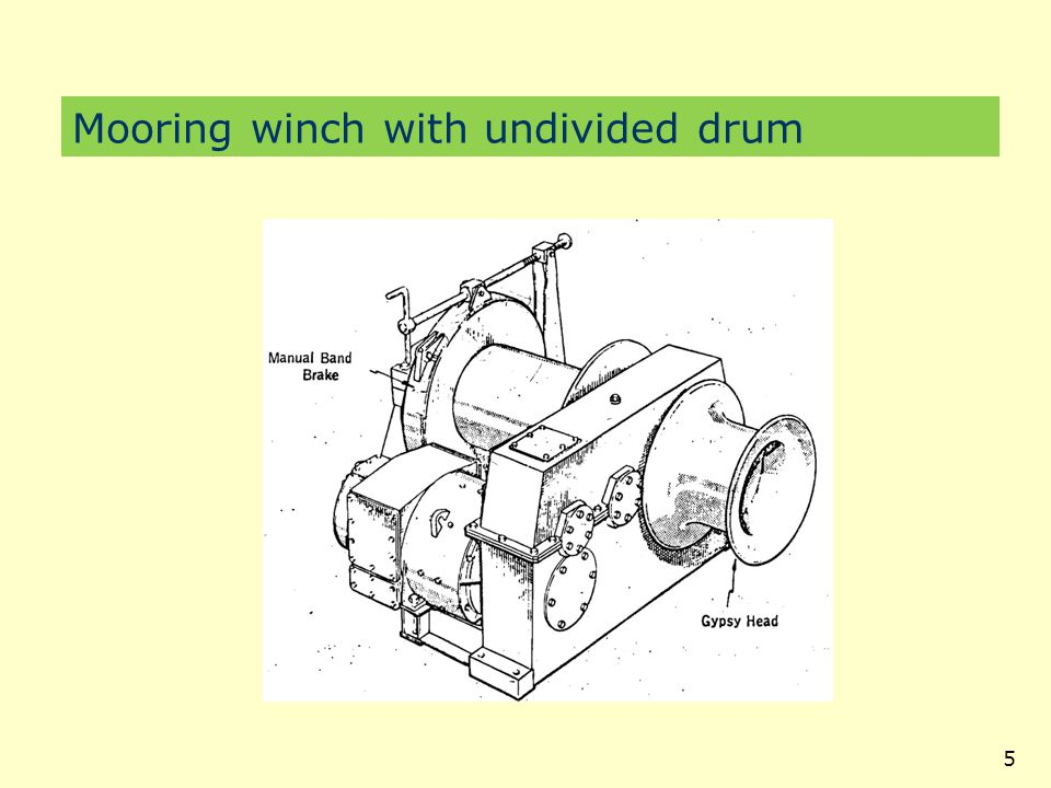 6 Mooring winches – Divided drum-polyprop octopus
