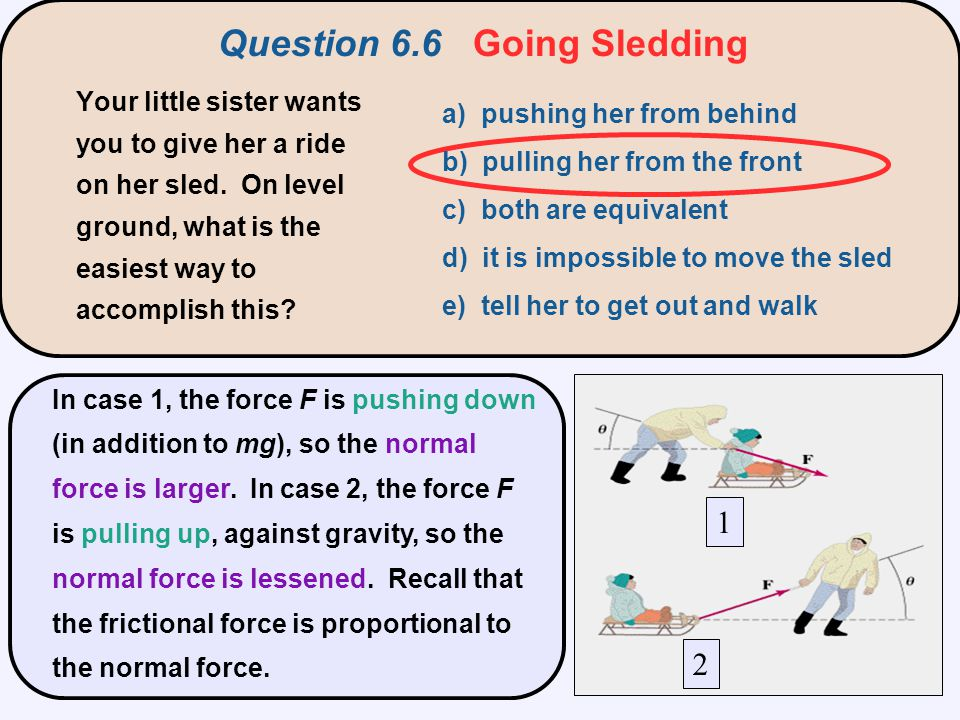 Question 6.7 Will It Budge.