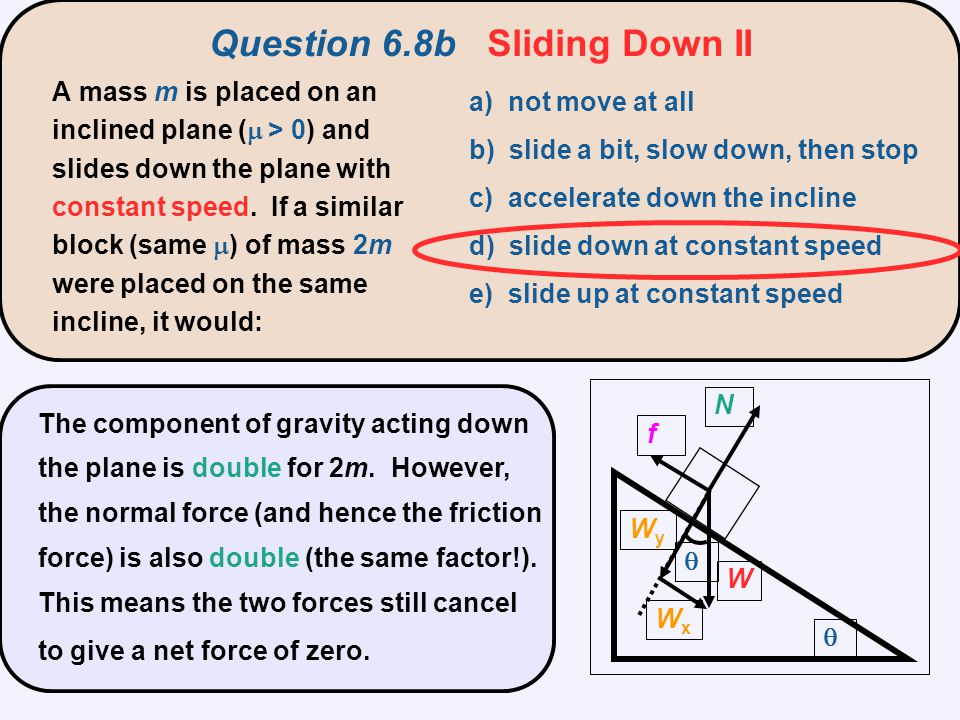 Question 6.9 Tetherball a) toward the top of the pole b) toward the ground c) along the horizontal component of the tension force d) along the vertical component of the tension force e) tangential to the circle In the game of tetherball, the struck ball whirls around a pole.