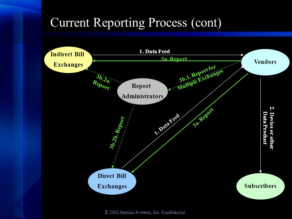 © 2002 Gemini Systems, Inc.Confidential Reporting Formats Why create yet another Reporting Format.