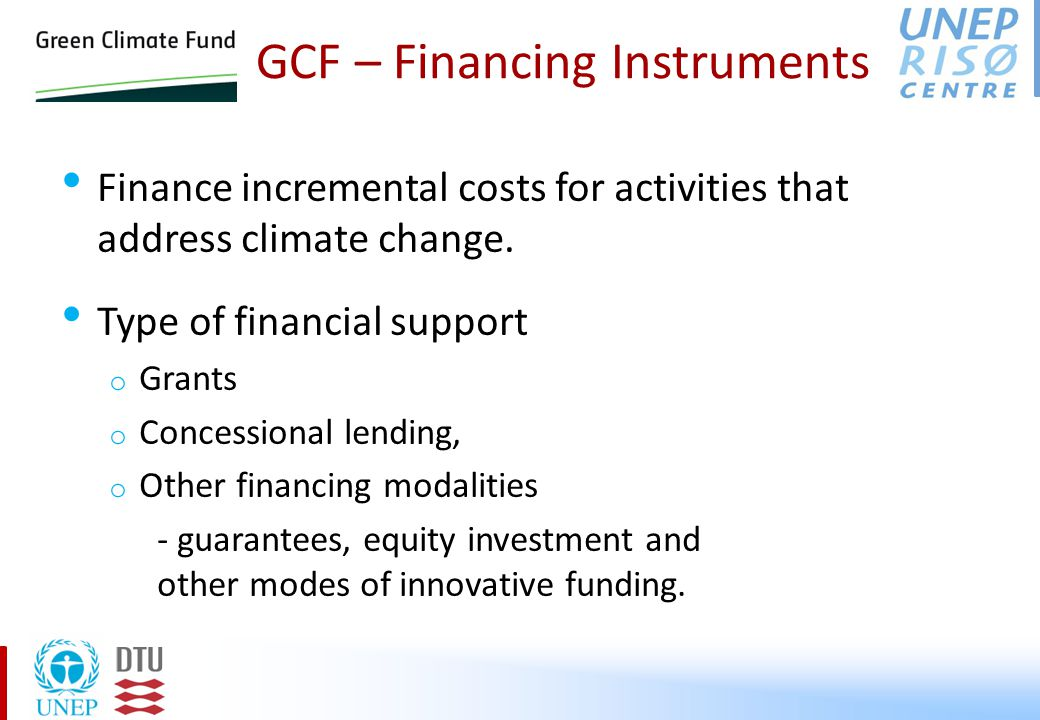Information on Financing in NAMAs Financial details of NAMA could benefit by including the following: o Clear and realistic description of allocation of funds to projects / programs o Clear evaluation of economic benefit to confirm financial feasibility (financial return), o Clear estimates of necessary cost with a good explanation (justification of the required cost).