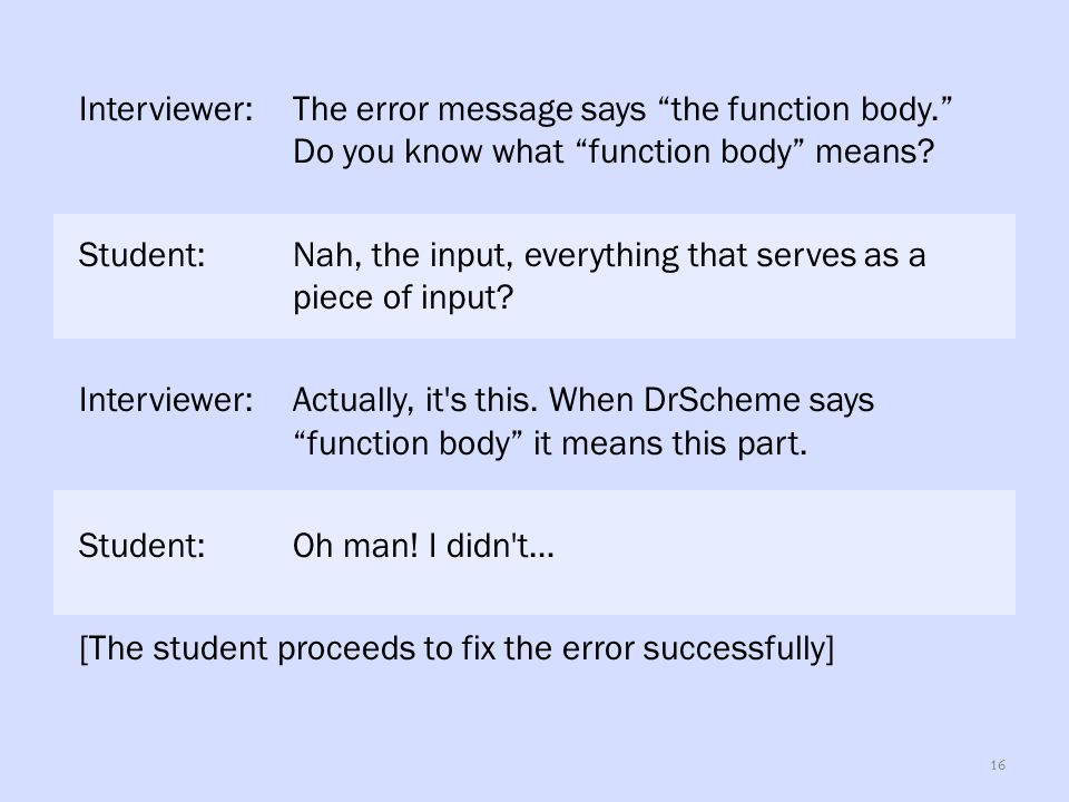 What DrRacket Says: define: expected only one expression for the function body, but found at least one extra part.