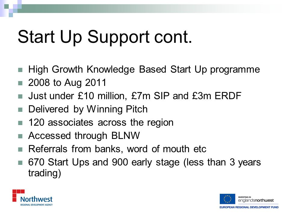 Social Enterprise Networking and Collaboration March 2008 to April 2010 £1.241 Single Programme, ERDF and OTS One year extension requested - £1,000,000 (50% SIP 50% ERDF) – Approved and Contracted.