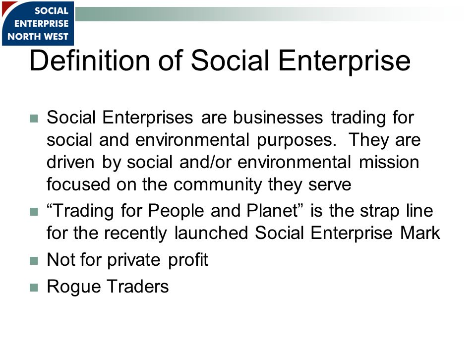 History The pioneers of social enterprise can be traced as far back to the1840s, at least, in Rochdale, where a workers co-operative was set up to provide high quality affordable food in response to factory conditions that were considered to be exploitative.