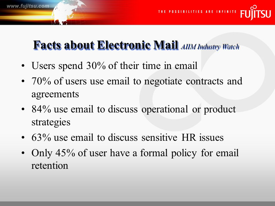 Facts about FAX and Paper Manually faxing document takes an avg.