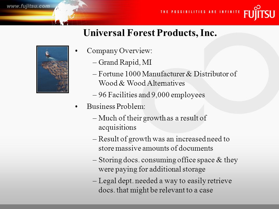 Universal Forest Products, Inc.Solution: –Hyland's Integrated Doc.