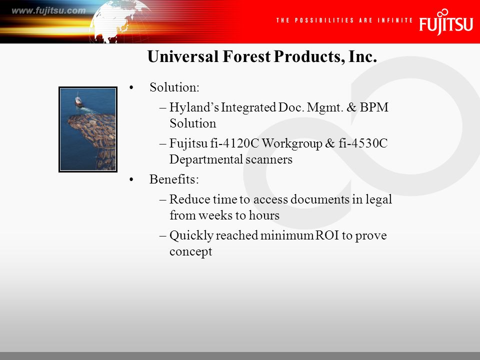Universal Forest Products, Inc.Business Problem in Payroll: –Needed to manage docs.