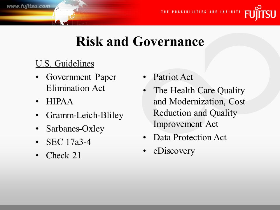 Defining Best Practices for Data Management and Security Central to these regulations are: –Accessibility, –Privacy, and –Protection of Data
