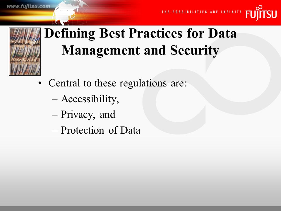 The Solution Enterprise Content Management, including document imaging, the capture component, as it provides real world solutions that enable organizations to manage information more efficiently, to secure confidential information and to ensure the physical protection of their data.
