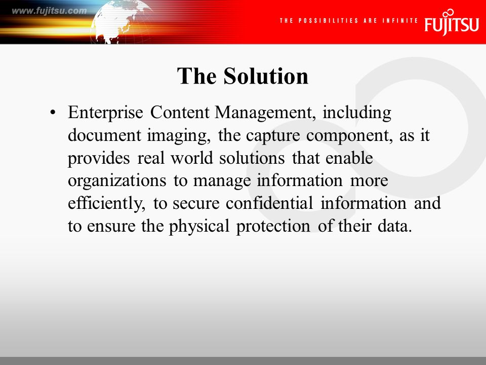 Enterprise Content Management The strategies, methods and tools used to capture, manage, store, preserve and deliver content and documents related to key organizational processes. AIIM International, 2006