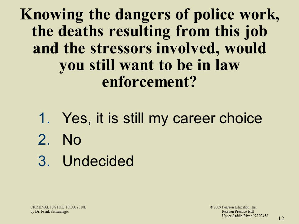 CRIMINAL JUSTICE TODAY, 10E© 2009 Pearson Education, Inc by Dr.
