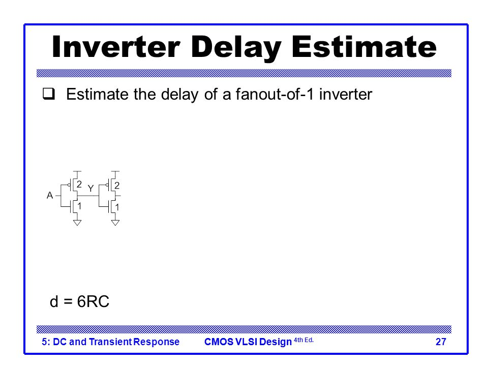 CMOS VLSI DesignCMOS VLSI Design 4th Ed. 5: DC and Transient Response28 Delay Model Comparison