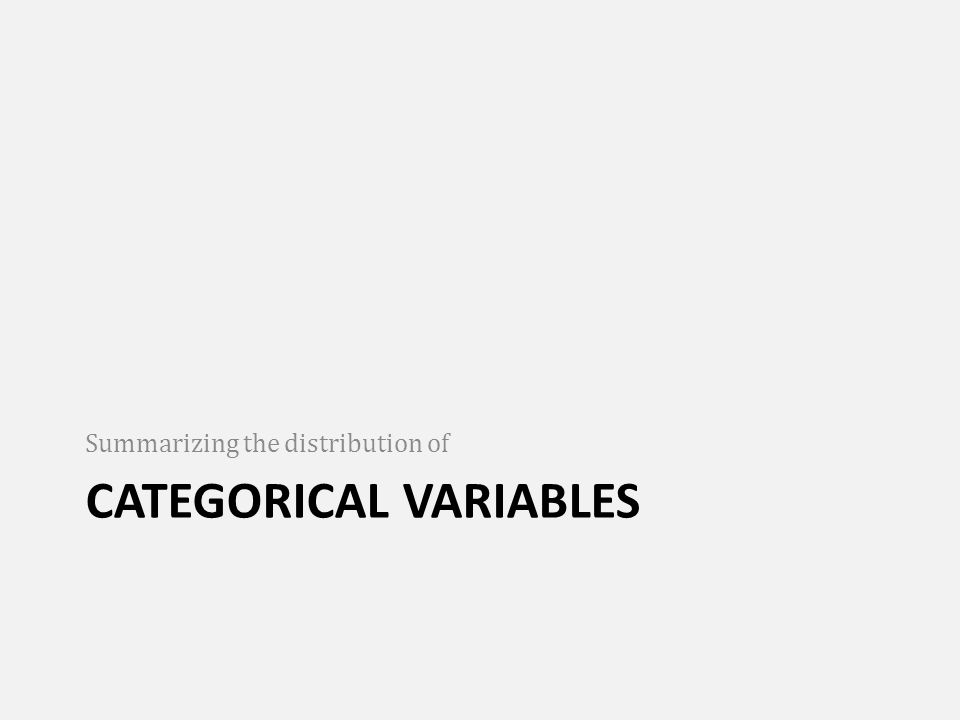 Summarizing the distribution of categorical variables using percentage Percentage is a statistic. It's a proportion with a denominator of 100.