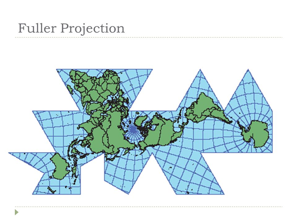 Robinson Projection  Attempts to balance several possible projection errors.