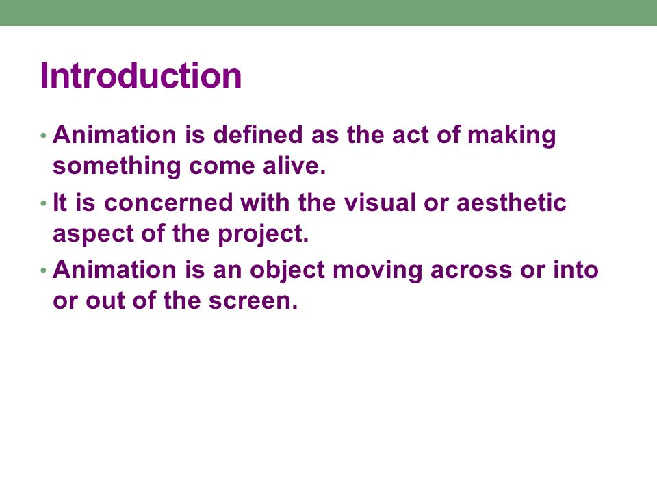 How Animation Works Animation is possible because of a biological phenomenon known as persistence of vision and a psychological phenomenon called phi.