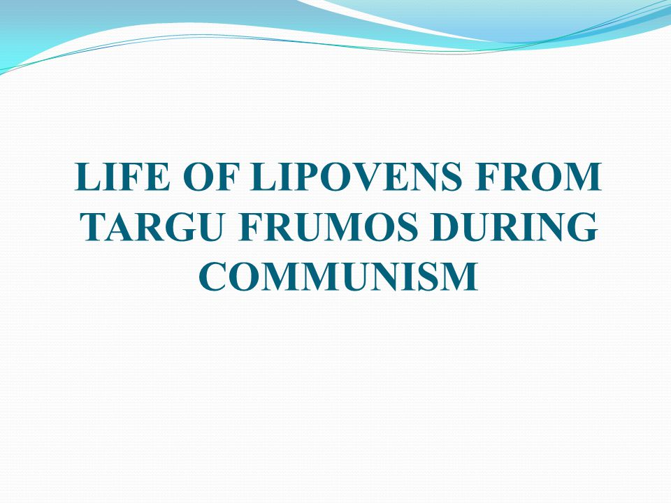 By Lipoven Russians or simply Lipovens we understand people belonging to a Russian population, settled in the Romanian countries because of persecutions, Starovers (raskolnici) are followers of the old belief and raskol is the separation that took place at the mid XVIIth century.