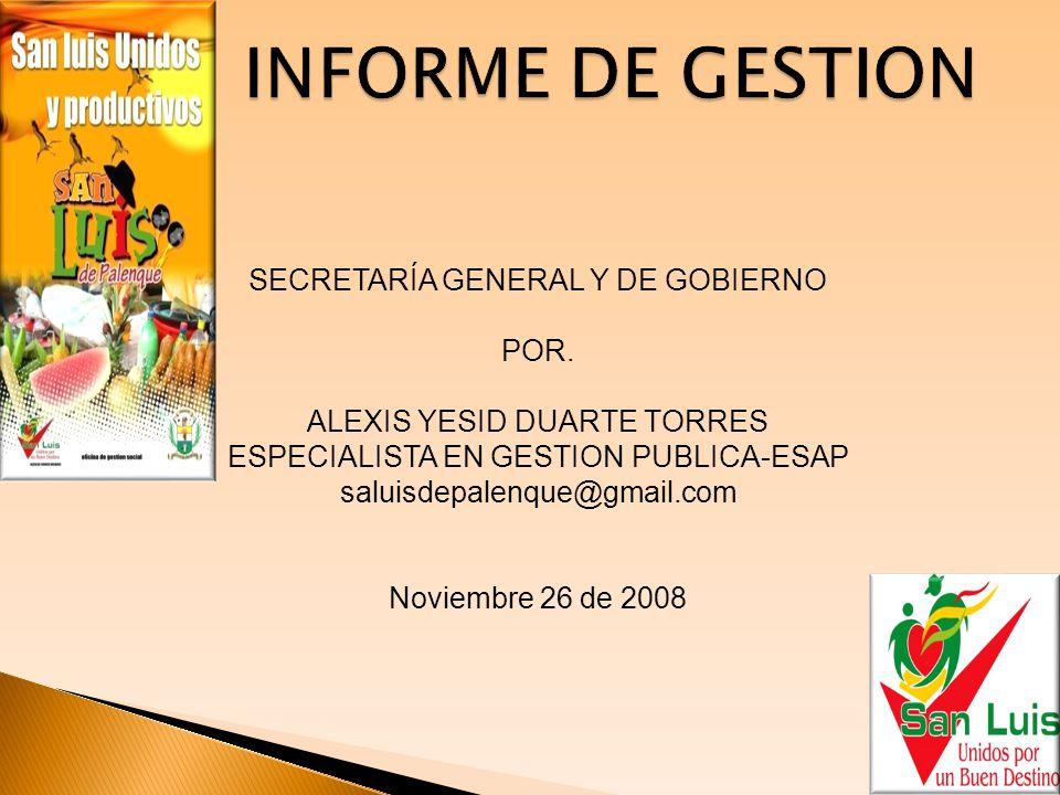 INFORME DE GESTION  TABLA DE CONTENIDO.TALENTO HUMANO.