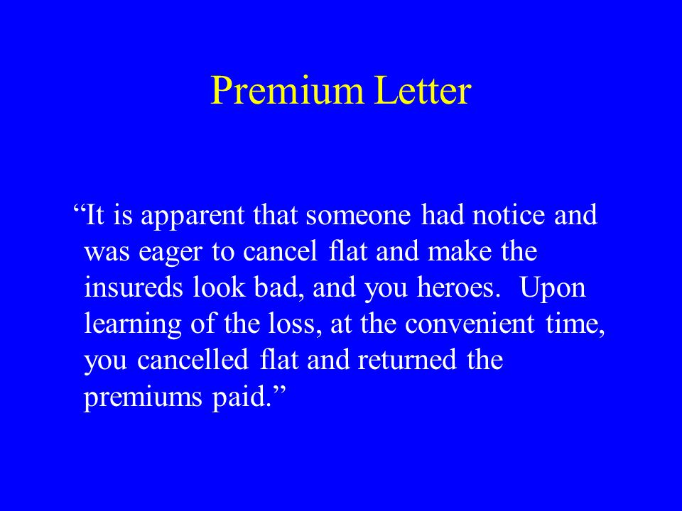 Cigna's Response Cigna begrudgingly conceded the premium issue, which made DeGeorge uncomfortable.