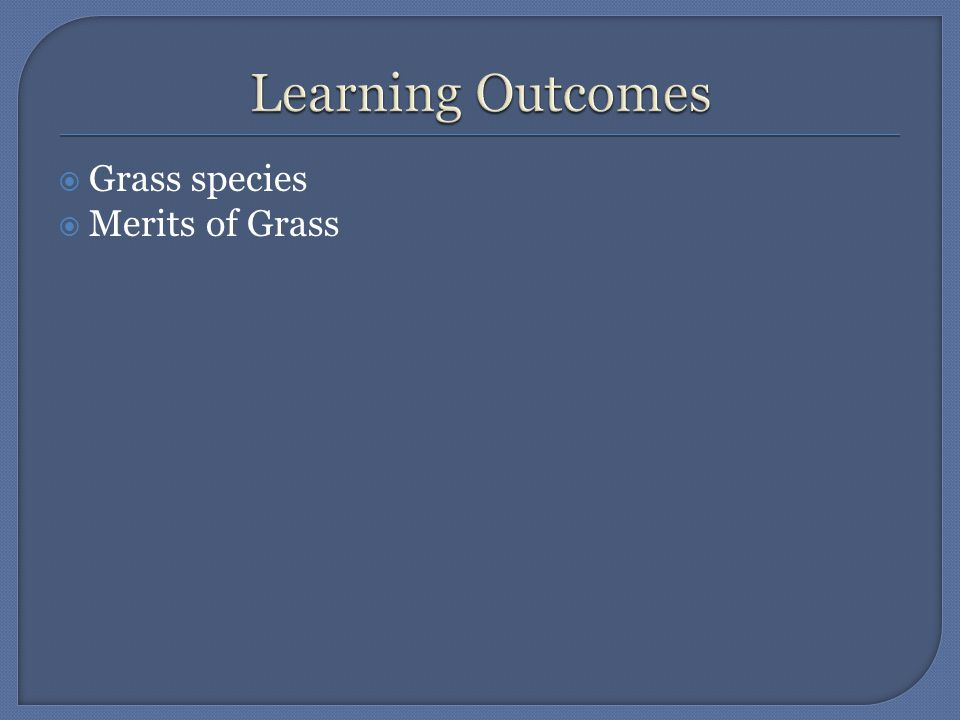  Between 200 and 300 species of grass exist in Ireland but only a small number are of any real importance to the farmer.