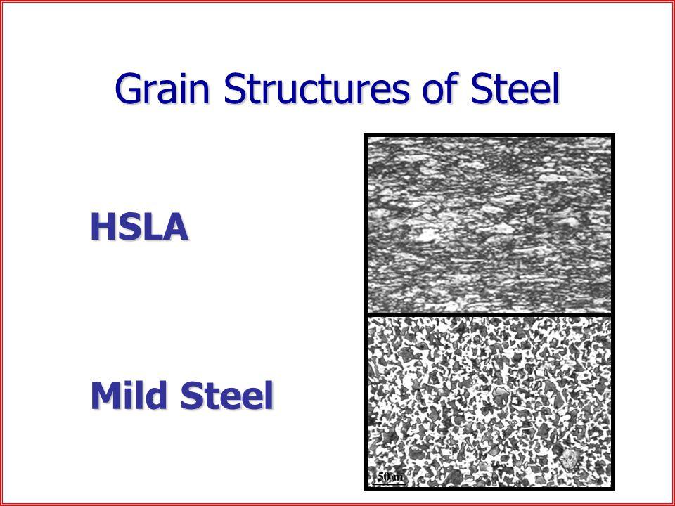 Grain Structures of Steel HSLA Mild Steel
