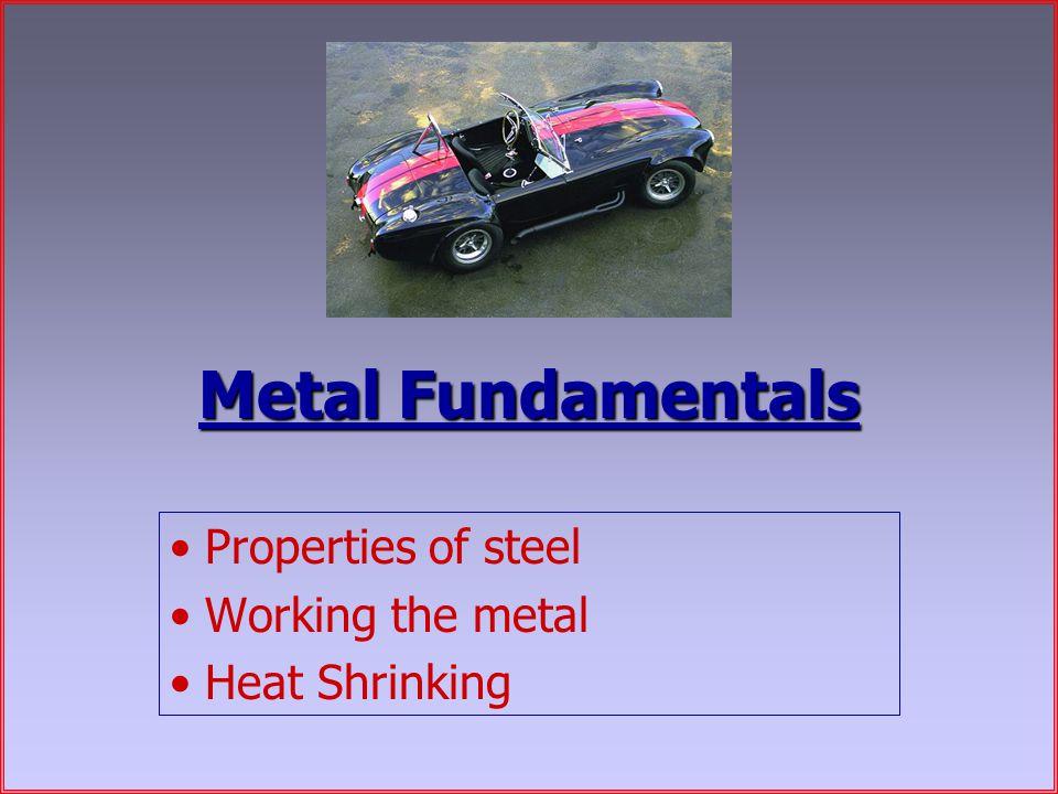Metal Fundamentals Properties of steel Working the metal Heat Shrinking