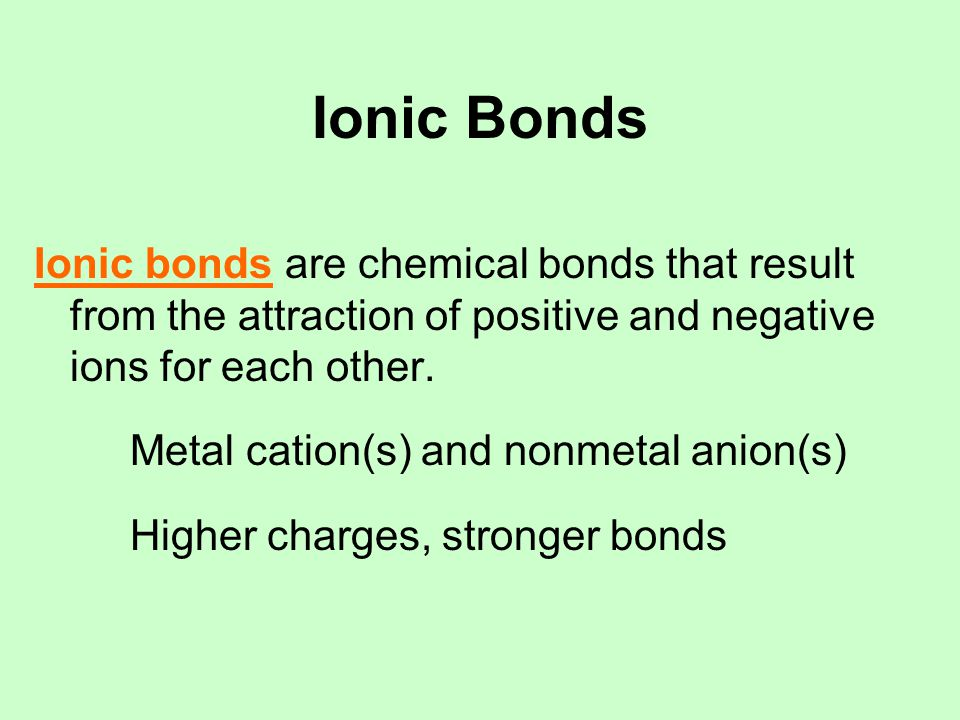 Ionic Bonds Ionic compounds are chemical compounds characterized by ionic bonds between atoms.