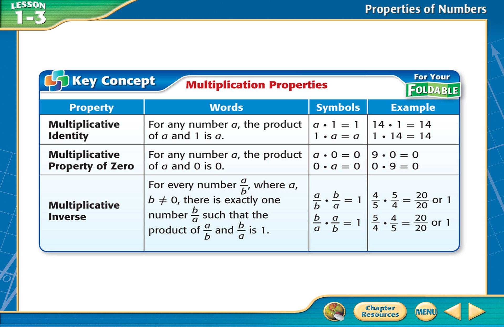 Example 1 Evaluate Using Properties Name the property used in each step.