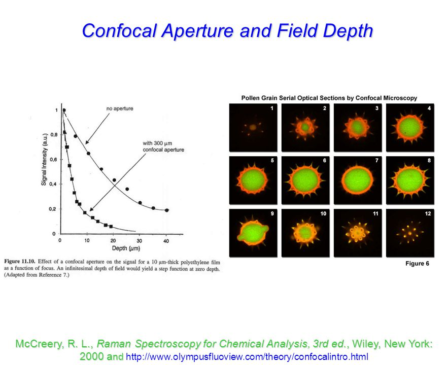 Confocal Aperture and Field Depth McCreery, R.