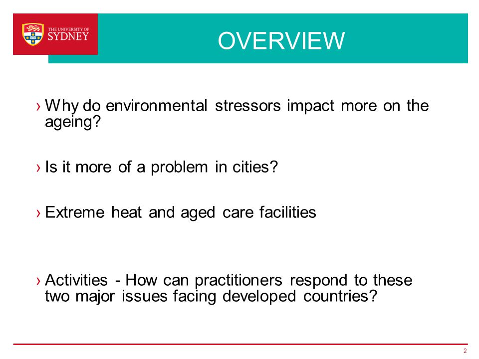 What is ageing and what is the impact of environmental stressors.