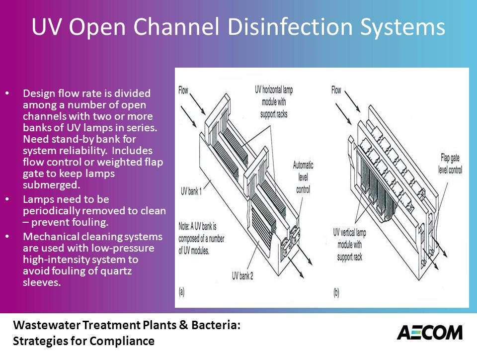 Wastewater Treatment Plants & Bacteria: Strategies for Compliance UV Open Channel Systems
