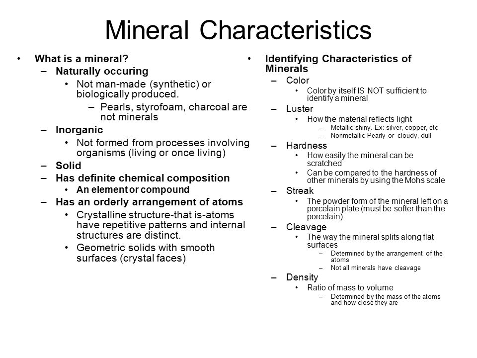 Formation of Minerals How are minerals formed.