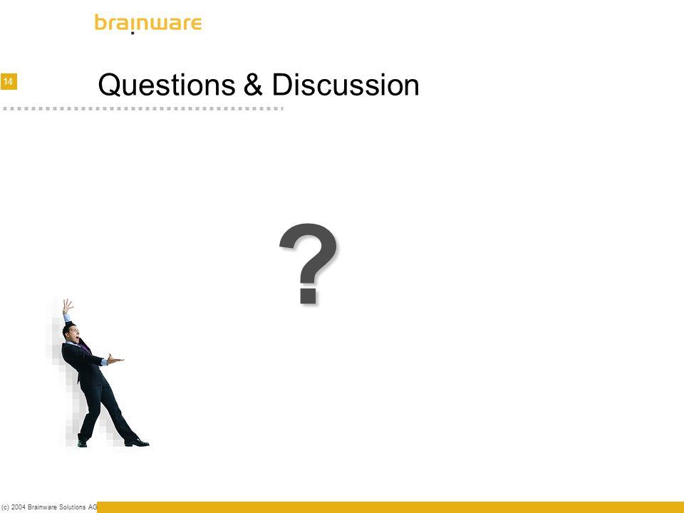 15 (c) 2004 Brainware Solutions AG Thank You Dardan Shkreli +41 41 748 22 04 shd@brainware.ch