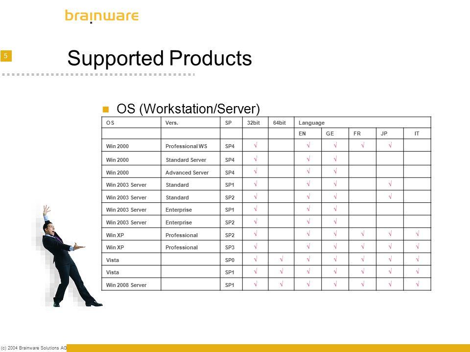 6 (c) 2004 Brainware Solutions AG The Workflow   Analysis OS, SP, Products, Severity   Development ENU, DEU, JPN, etc.