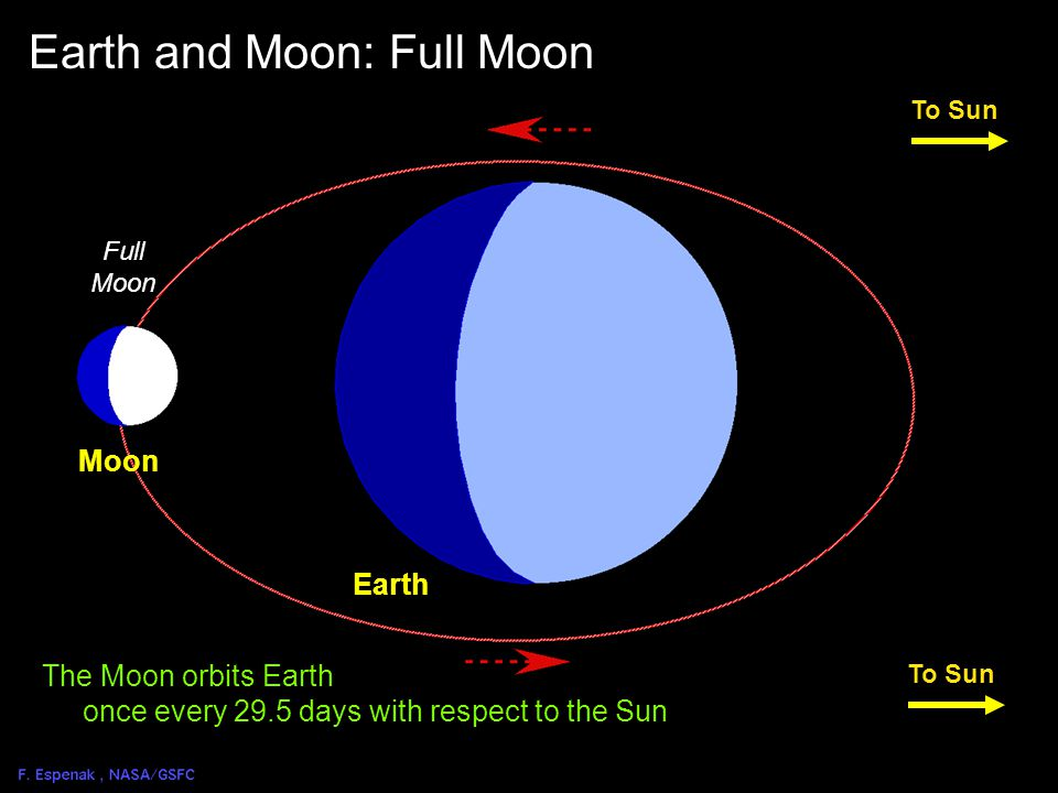 Solar Eclipse Geometry 2 To Sun Earth New Moon Earth and Moon: New Moon Moon The Moon orbits Earth once every 29.5 days with respect to the Sun