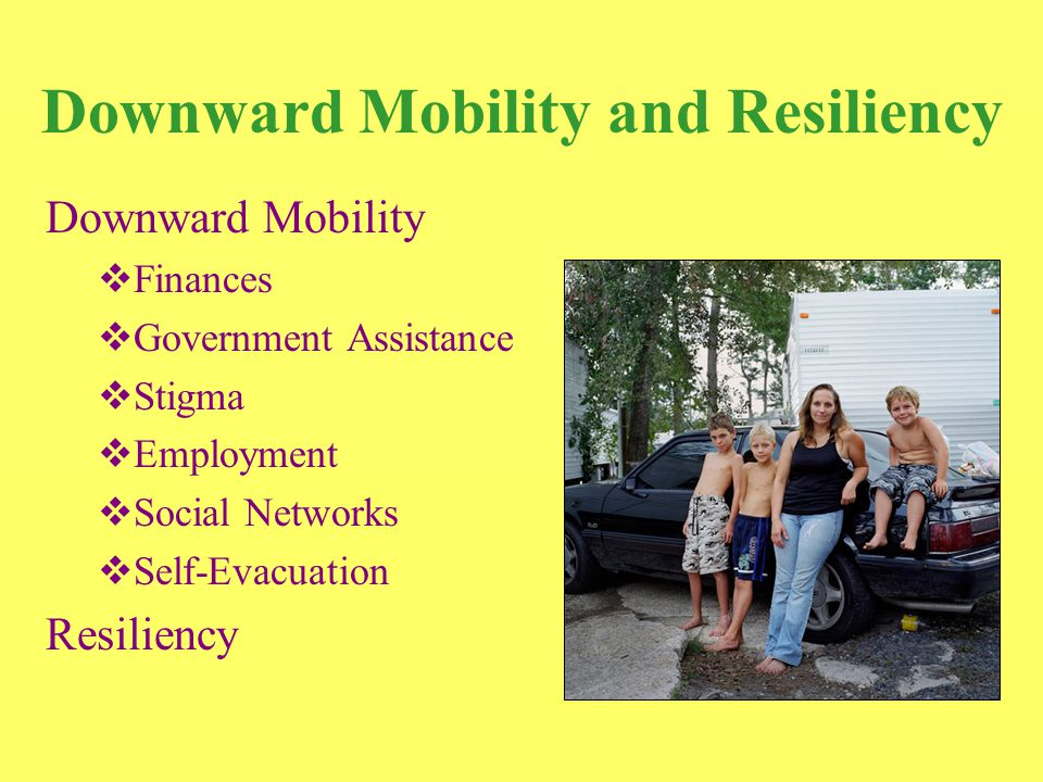 Conclusion Recovery-Related Difficulties  Unaware of public and private resources  Conjunction of needs  Loss of safety net  Bureaucratic obstacles  Mistreatment based on race, region of origin, social class, and/or household status (female-headed) Food Clothing Shelter and Housing TransportationEmployment Childcare and Schooling Healthcare